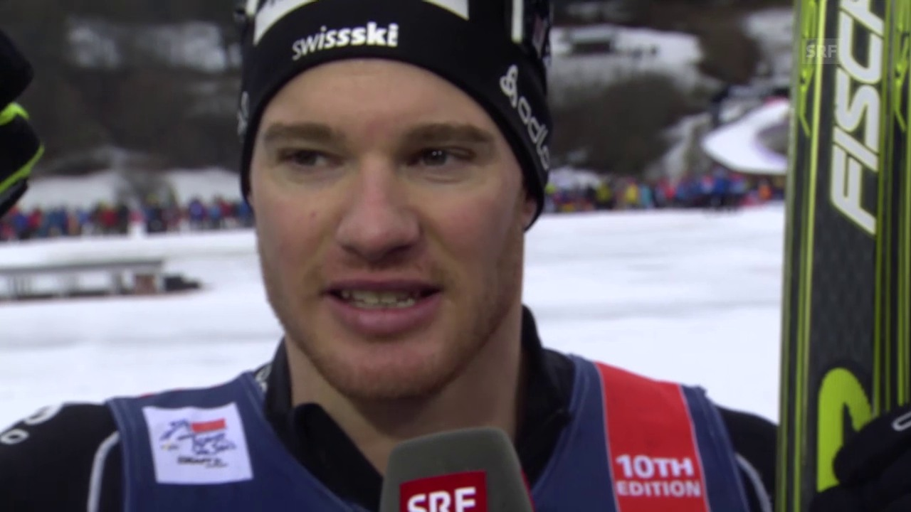 Langlauf: Tour de Ski, Sprint in Oberstdorf, Cologna Interview