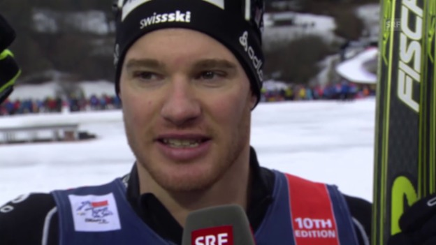 Video «Langlauf: Tour de Ski, Sprint in Oberstdorf, Cologna Interview» abspielen