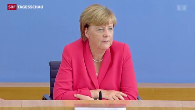 Video «Merkel: Nulltoleranz gegen Brandstifter und Mitläufer» abspielen