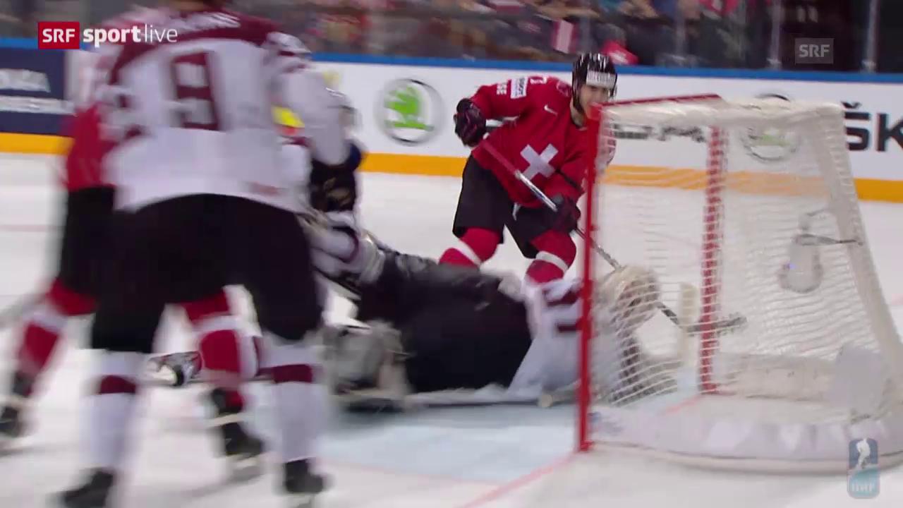 Eishockey-WM: Schweiz - Lettland, Parade Masalskis