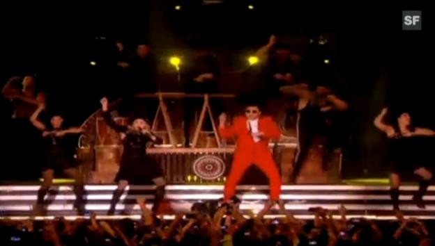 Video «Madonna und Psy tanzen den «Gangnam Style»» abspielen