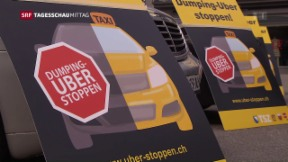 Video «Taxifahrer gegen Uber » abspielen
