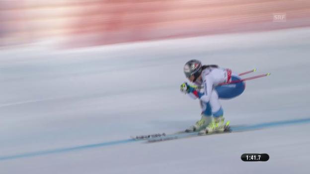 Video «Ski: Abschlusstraining Frauen, Fahrt Abderhalden» abspielen