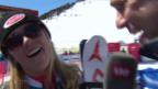 Video ««Noch nicht auf deutsch»: Shiffrin im Siegerinnen-Interview» abspielen