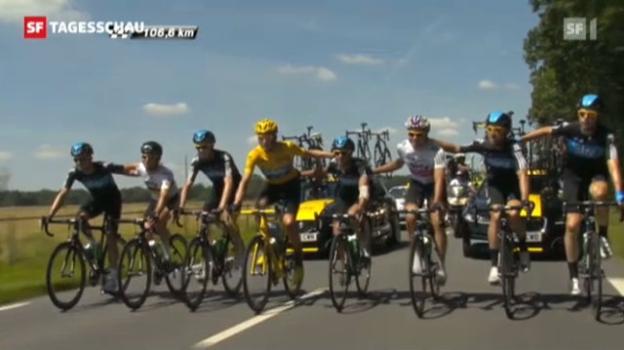 Video «Bradley Wiggings gewinnt Tour de France» abspielen