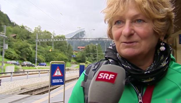 Video «Augenzeugin Marlies Gabaglio schildert den Unfall» abspielen