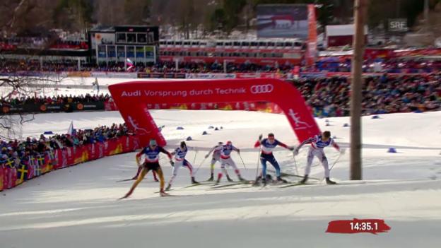 Video «Langlauf: Team-Sprint, Halbfinal mit der Schweiz» abspielen