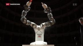 Video «ABB setzt auf menschenähnliche Roboter» abspielen