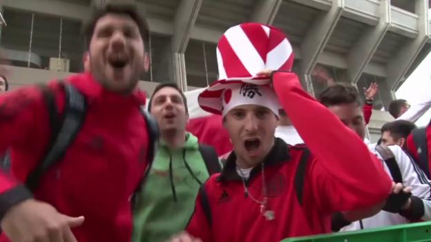 Video «Fussball: River-Fans in Japan» abspielen