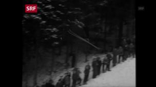 Video «So sprangen die Skisprung-Pioniere 1945 in Engelberg» abspielen