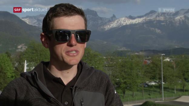 Video «Matthias Frank vor der Tour de Romandie» abspielen