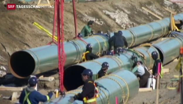 Video «Obama gegen den Kongress: Der Machtkampf um die Pipeline» abspielen