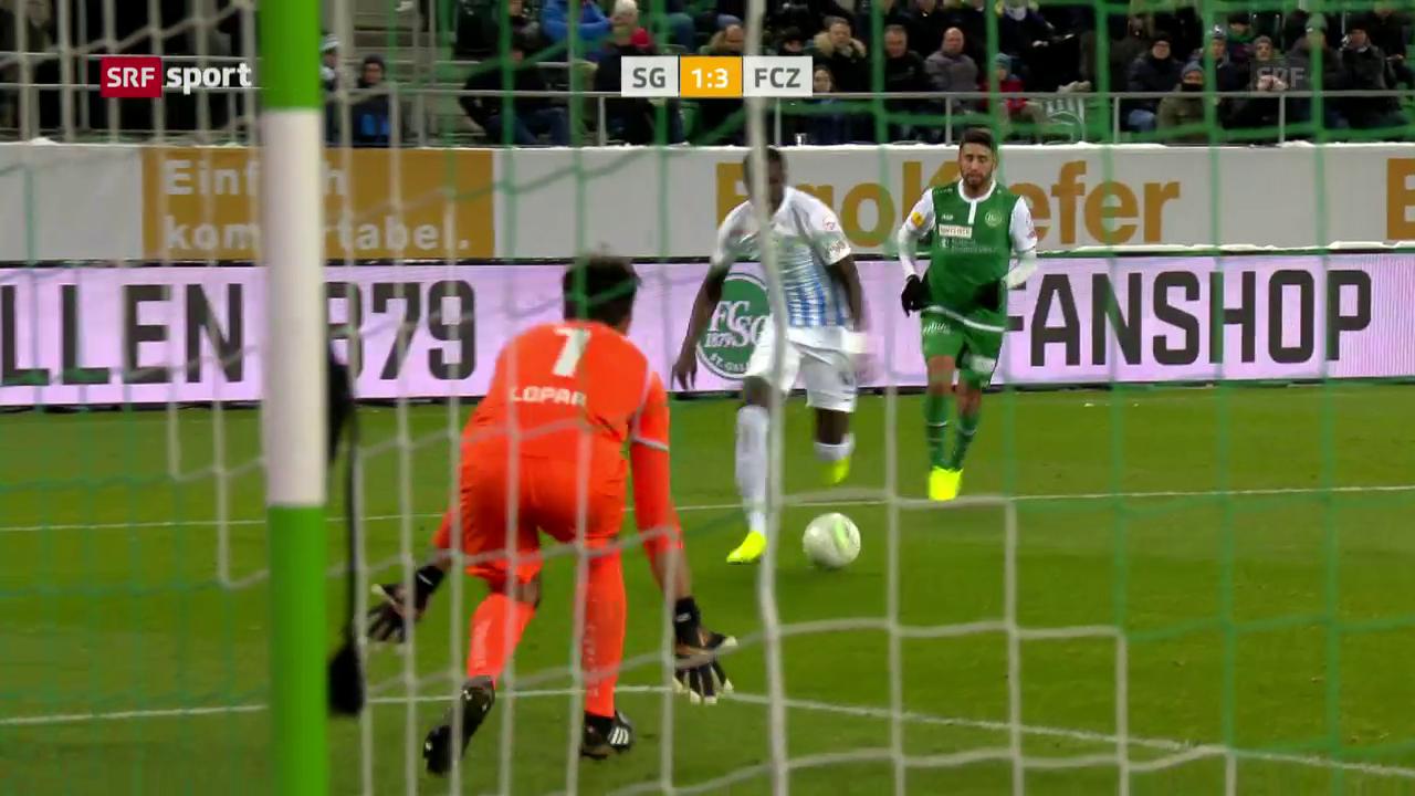Verdienter 3:1-Sieg des FCZ in St. Gallen