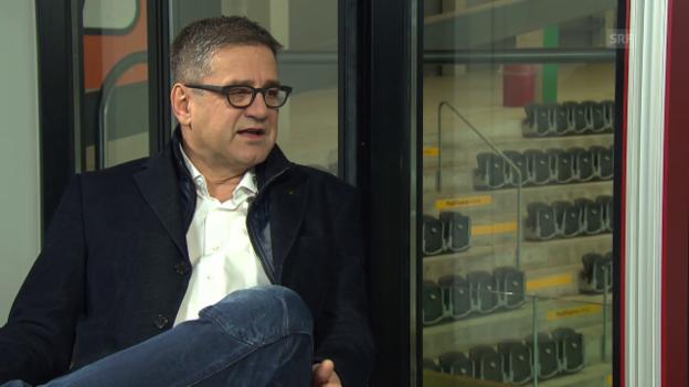Video «Lüthi stützt seinen aktuellen Trainer Lars Leuenberger» abspielen