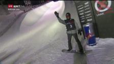 Link öffnet eine Lightbox. Video Podladtchikov greift im 2. Run in den Schnee abspielen