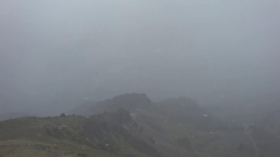 Schneefall Flumserberg, Dienstag 12. Oktober,  SRFWetterkanal