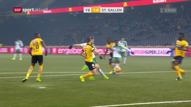 Video «YB und St. Gallen trennen sich unentschieden» abspielen