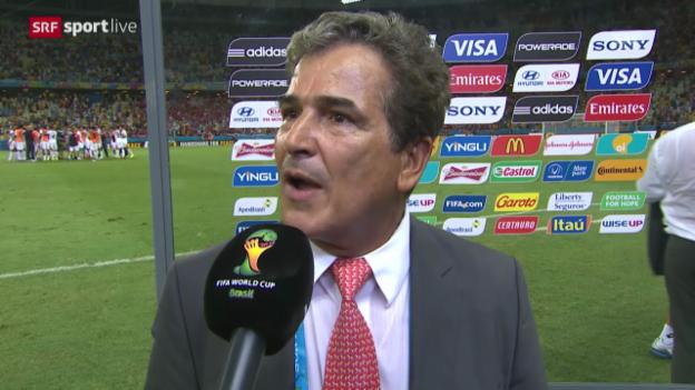 Video «FIFA WM 2014: Costa Ricas Trainer Pinto im Interview» abspielen