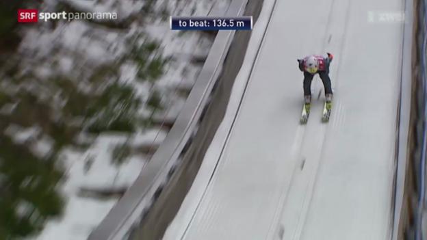 Video «Skispringen: Weltcup in Titisee-Neustadt» abspielen