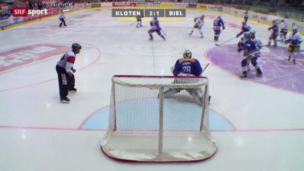 Video «Eishockey: Kloten - Biel» abspielen