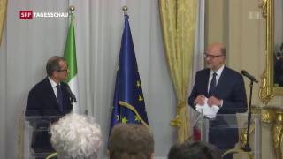 Video «EU nicht zufrieden mit Budget Italiens» abspielen