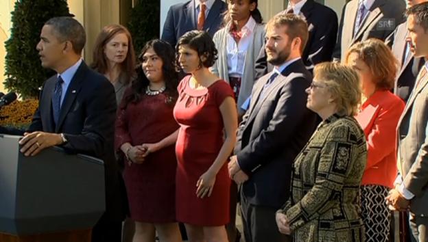 Video «Barack Obama und die schwangere Frau» abspielen
