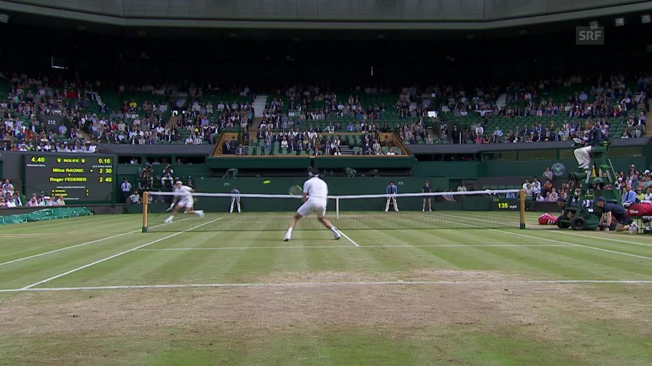 Pfeilschneller Federer erwischt Raonic