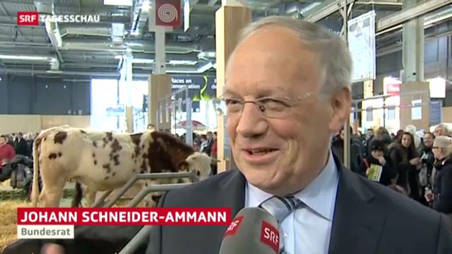 Johann Schneider-Ammann an der Landwirtschaftsmesse in Paris