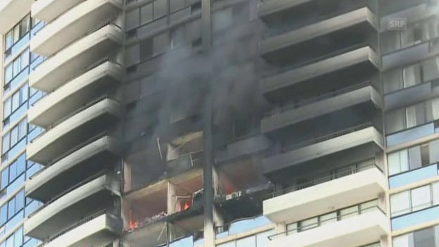Video «Hochhausbrand in Honolulu» abspielen