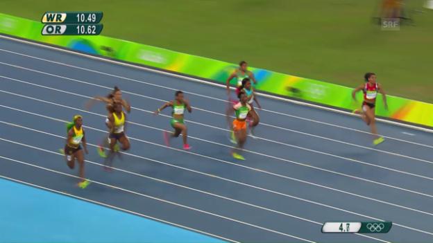 Video «Kambundjis schneller Vorlauf über 100 Meter» abspielen