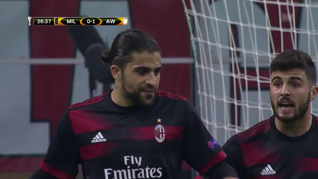 Kantersieg für die AC Milan gegen Austria Wien