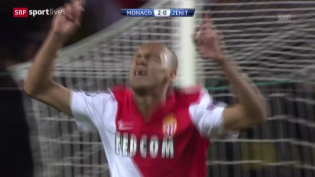 Video «Fussball: Zusammenfassung Monaco - Zenit» abspielen