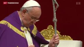 Video «Papst reformiert Kirchen-Strafrecht» abspielen