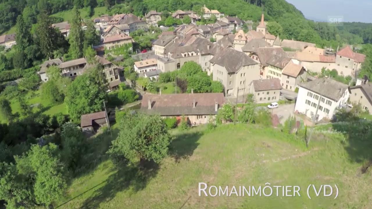 Romainmôtier (VD) aus der Luft