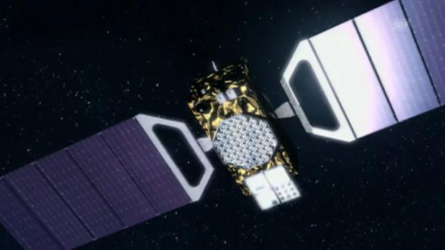 Video «Animation der Umlaufbahnen des Satelliten-Navigationssystems Galileo» abspielen