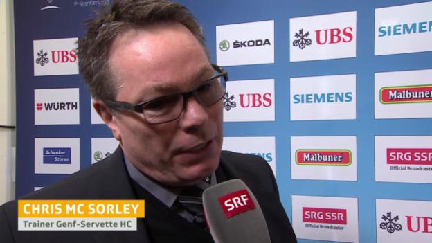 Video «Eishockey: Spengler Cup, Interview Chris McSorley» abspielen