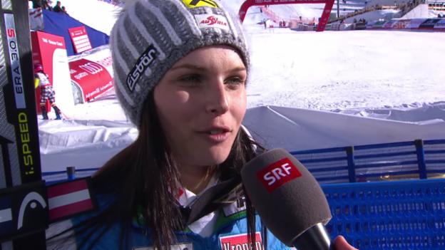 Video «Ski: Interview mit Anna Fenninger nach RS-Gold» abspielen