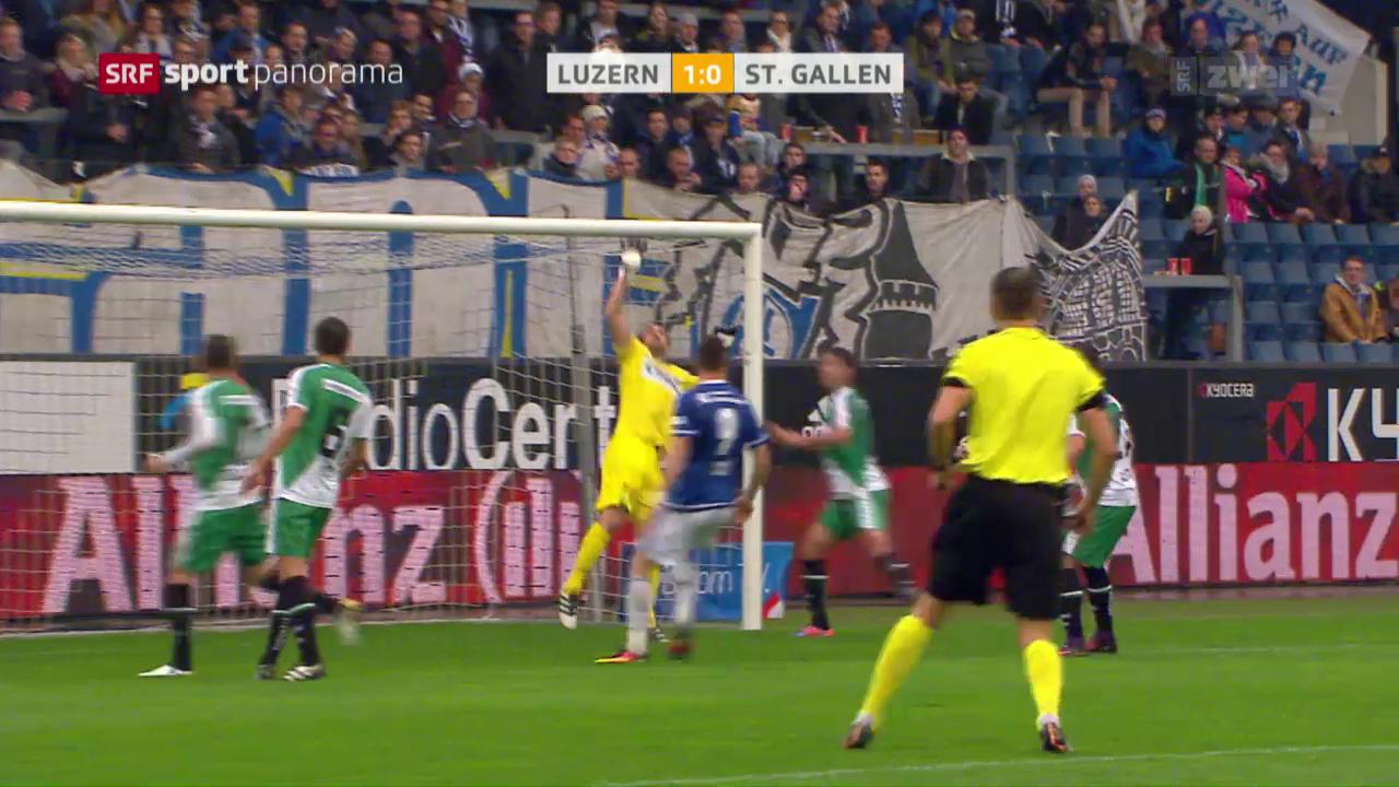 Fussball: Super League, 12. Runde, Luzern - St. Gallen