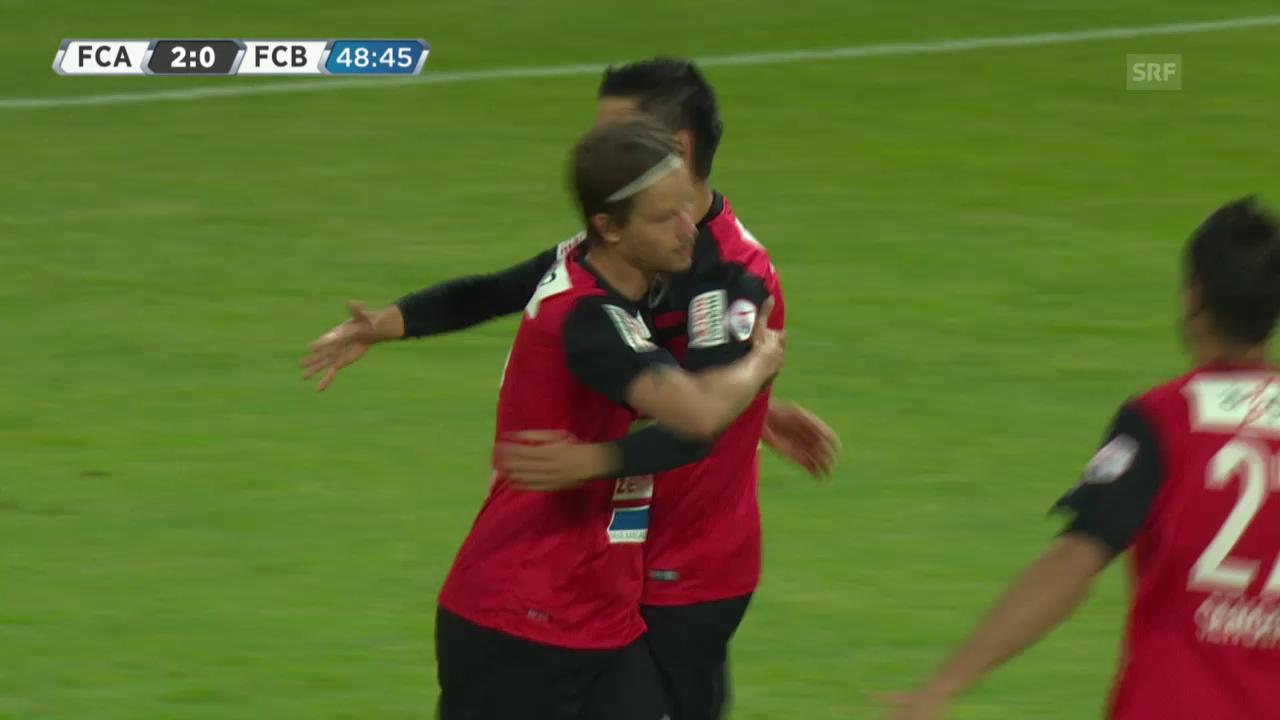 Fussball: Super League, Aarau - Basel, 2. Tor Aarau