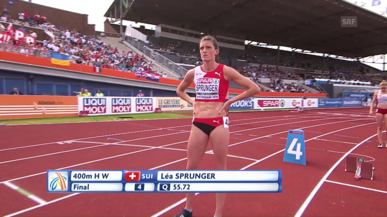 Lea Sprunger gudogna bronz sur 400 meters obstachels