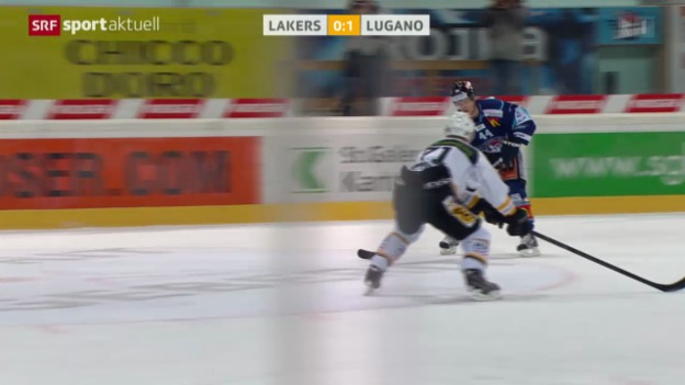 Video «Eishockey: Rapperswil - Lugano» abspielen