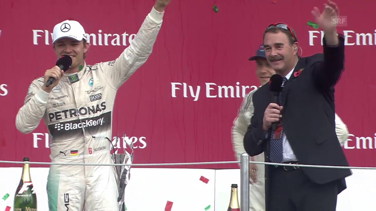 F1: GP Mexiko; Siegerehrung mit Nico Rosberg