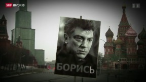 Video «Spekulationen rund um Nemzows Ermordung» abspielen