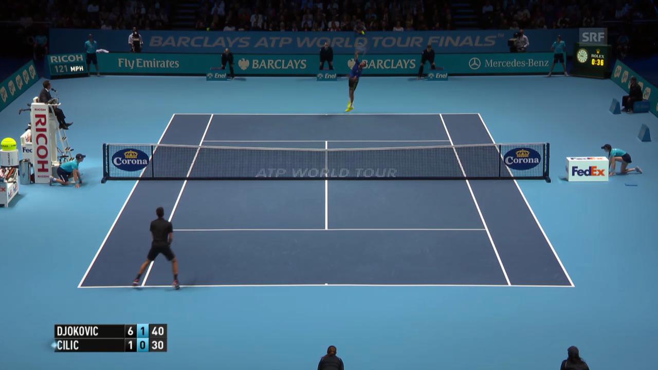 Tennis: ATP Finals, entscheidende Punkte Djokovic - Cilic