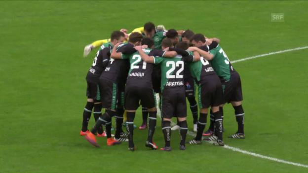 Video «St. Gallen verschafft sich mit Sieg in Lugano Luft» abspielen