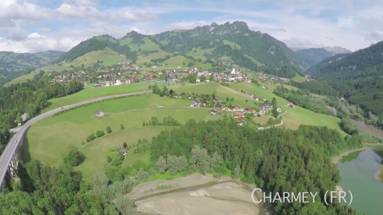 Charmey (FR) aus der Luft
