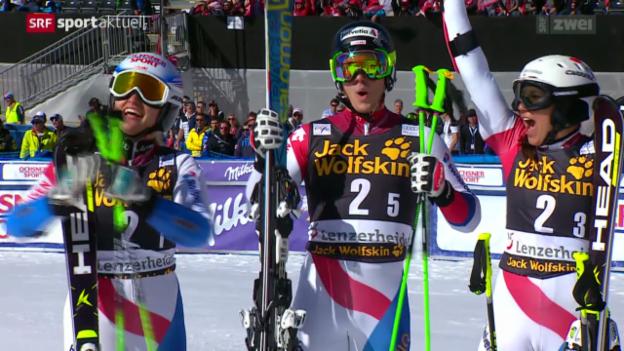 Video «Ski: Team-Event auf der Lenzerheide» abspielen
