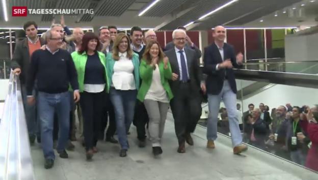 Video «Wahlsieg der Sozialisten in Andalusien» abspielen