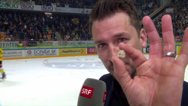 Video «Lars Leuenberger bedankt sich bei Frau und Sohn» abspielen