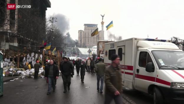 Video «Kiew: Reportage aus dem Ausnahmezustand» abspielen